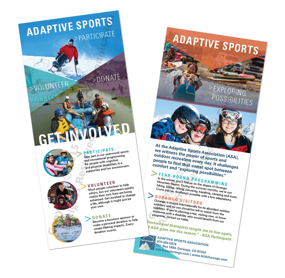 Adaptive Sports Association Rack cards