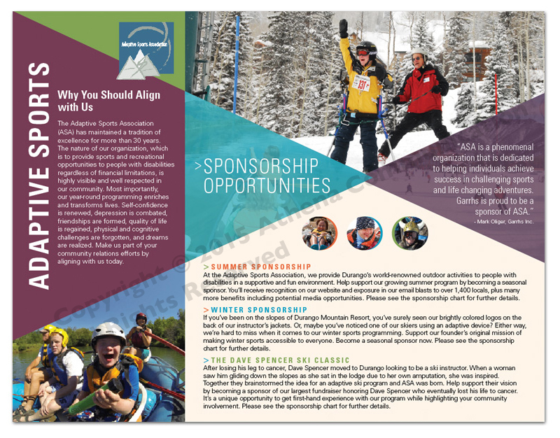 Adaptive Sports Association Flyer