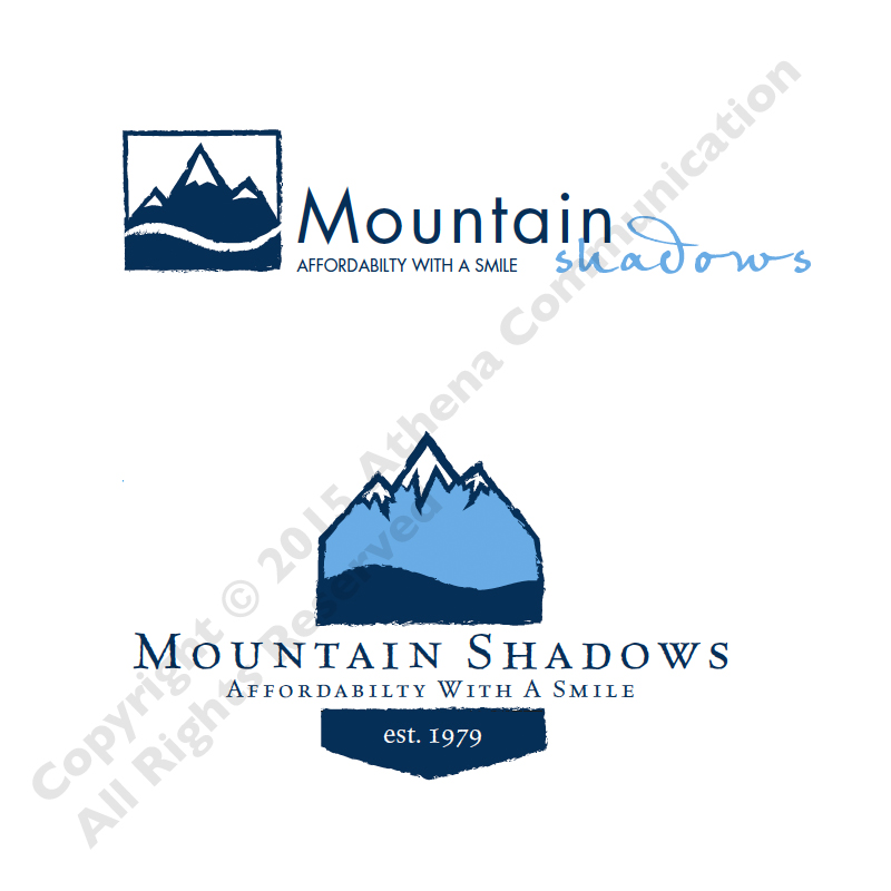 Mountain Shadows Logo Comps